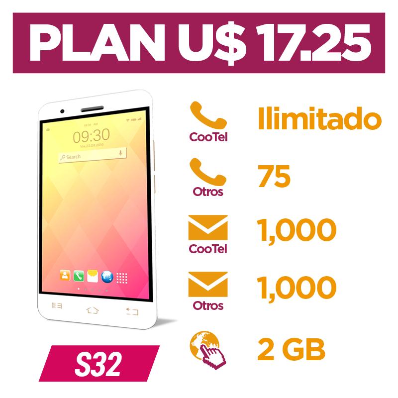 Plan Pospago U$ 17.25