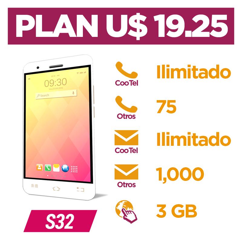Plan Pospago U$ 19.25