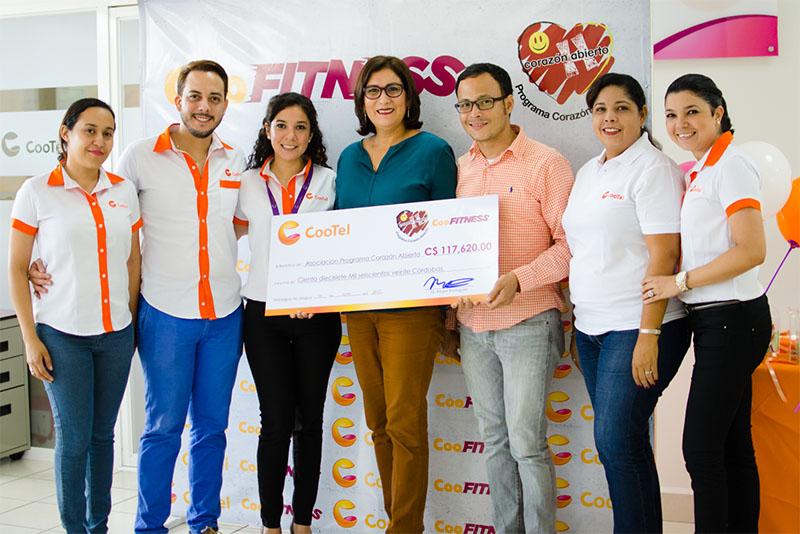 CooTel entrega fondos recaudados en CooFITNESS